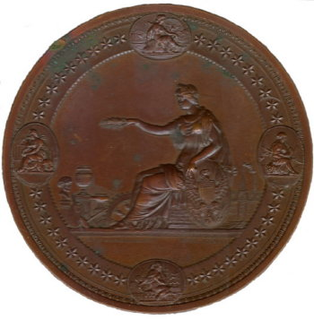 Large Award Medal - 1876 Centennial Expo