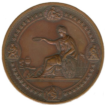Small Award Medal - 1876 Exposition