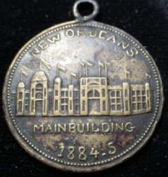 Medal of Main Building 1885-5 New Orleans