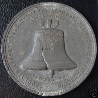 1885 Cotton Centennial The Liberty Bell Medal