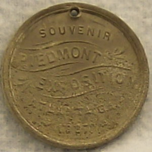 1887 Piedmont Exposition Medal