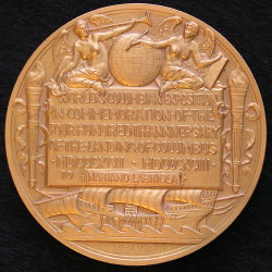 Gilt Award Medal of 1893 Columbian Exposition