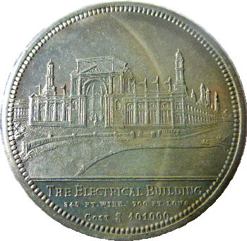 The Electricial Building 1895 Exposition Medal