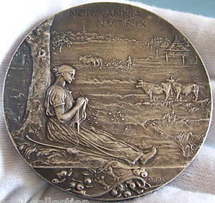 Roty Silver Plated medal 1896 exposition