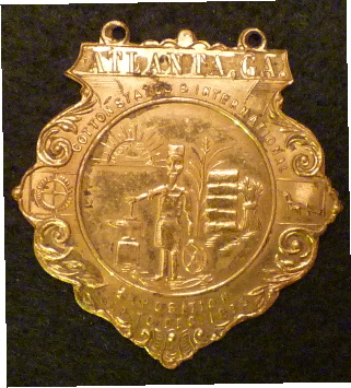1895 Atlanta Expo Badge