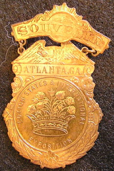 Atlanta 1895 Exposition  Badge -  King Cotton