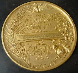 1895 Atlanta Cotton States Exposition Gold Medal
