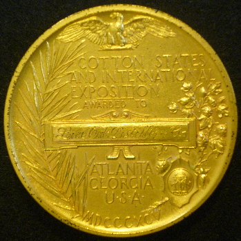 Atlanta gold medal 1895 exposition