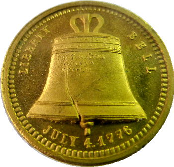 Gold Liberty Bell Medal 1895 Atlanta Exposition