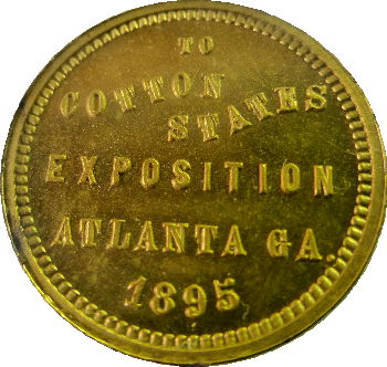 Gold LIberty Bell medal from 1895 Atlanta expo