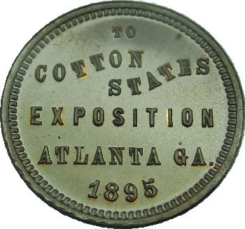 To Cotton States Exposition Atlanta GA 1895 medal