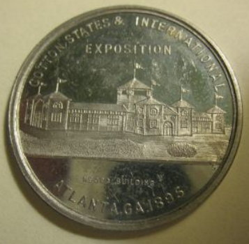 Nego Buliding at Atlanta Expo of 1895 medal.