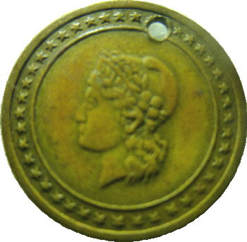 small liberty head medal 1895 Atlanta
