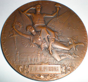 Bronze expo award medal