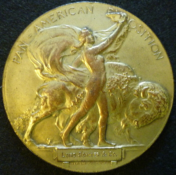 1Bronze Pan-American Exposition Medal