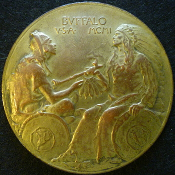 1901 Bronze Pan-American Exposition Medal