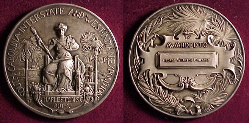 Silver Award Medal 1901-1902 Charleston South Carolina Interstate and West Indian Exposition