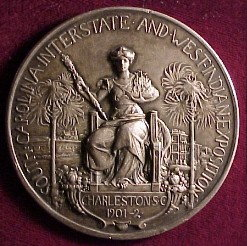 Silver Award Medal 1902 Carolina Interstate and West Indian Exposition
