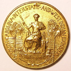 Token of gold medal award SC Interstate & West Indian Expo 1901 - 1902