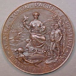 Exposition Medals 1909 Seattle Alaska Yukon Pacific Exposition medal