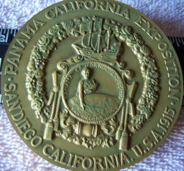 San Diego California USA 1915 Panama California Exposition medal